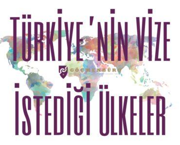 Türkiyenin Vize İstediği Ülkeler
